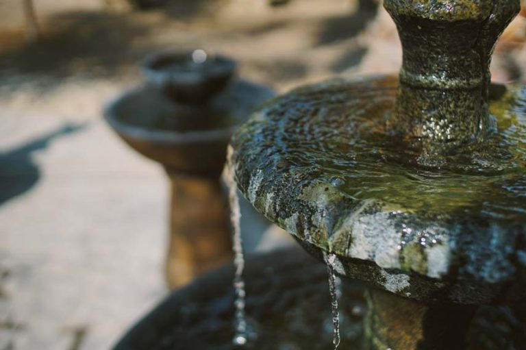 close up of fountain
