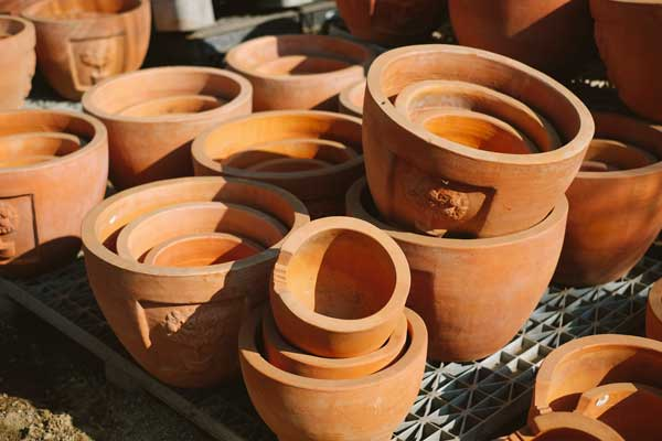 pottery for potted plants